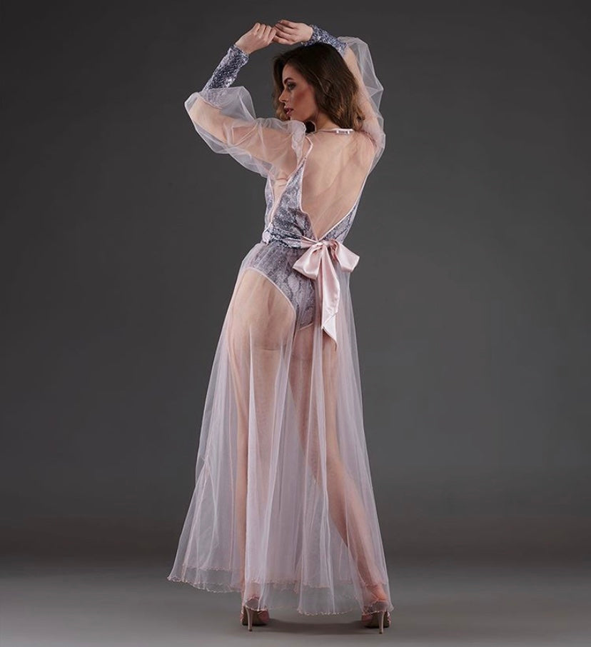 XI Pamira Glamour Gown and Sheer Robe