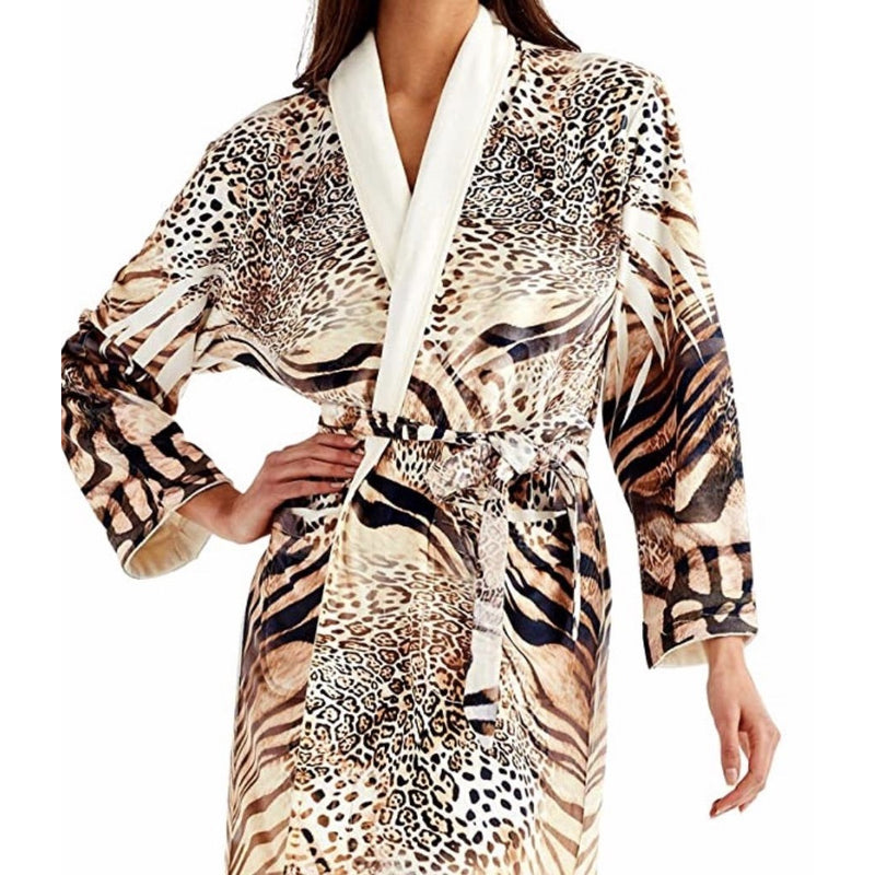 WU Wrap Up Safari Print Long Robe