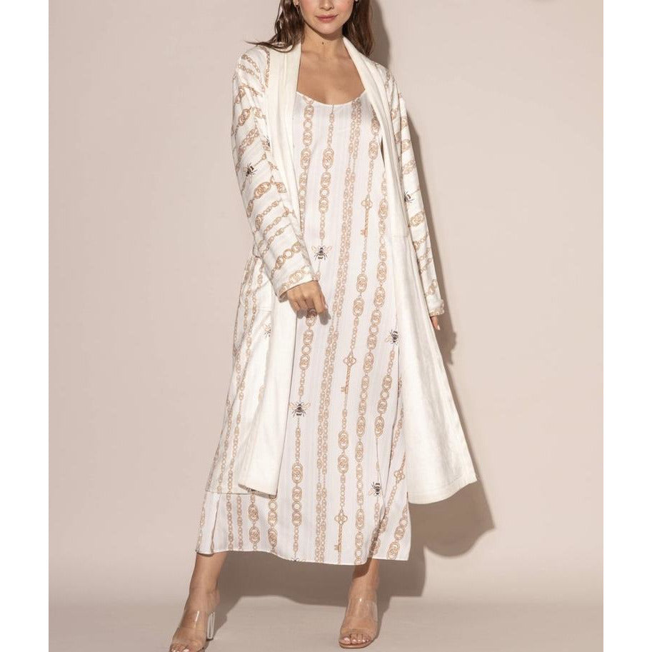 WU Wrap Up Bijoux Long Robe