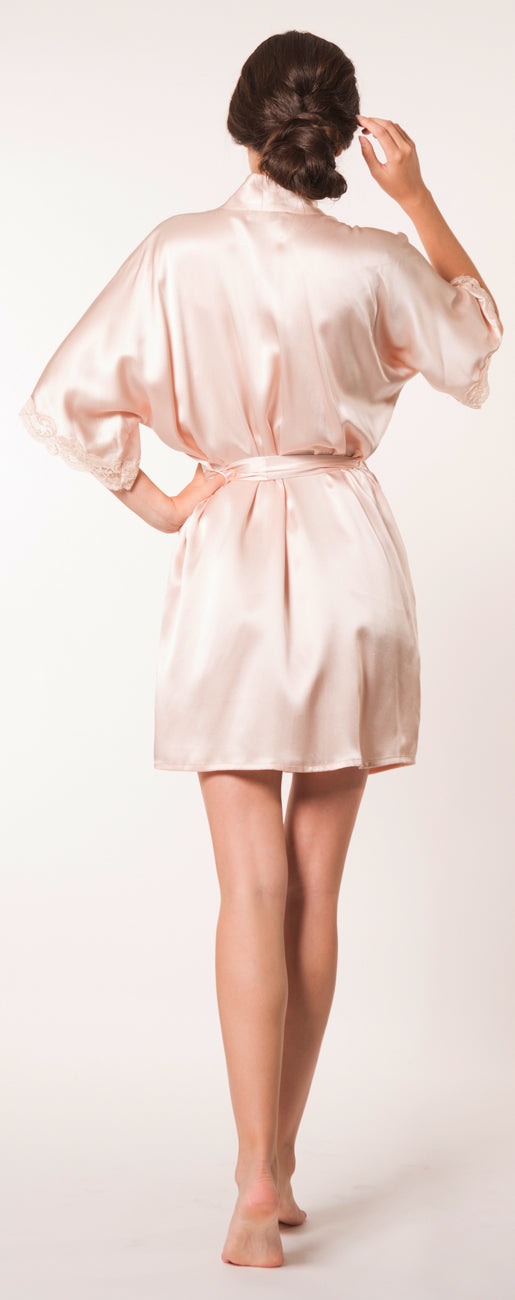 Bijoux Silk Short Robe
