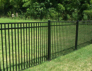 Full Packaged 5' Black Ornamental Aluminum Yard - 250' Yard Size - Customize to Your Yard