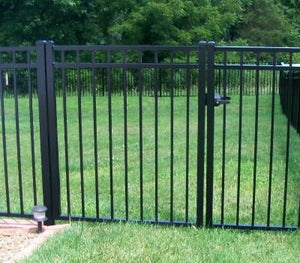 Aluminum 10' single swing gate, flat top