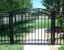 4' Aluminum Ornamental Single Swing Gate - Flat Top Series C - Over Arch