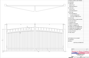 Over Arch Alternating Picket Gate