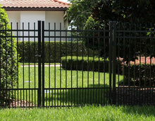 3' Aluminum Ornamental Single Swing Gate - Spear Top Series H - No Arch