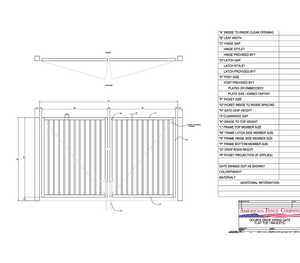 "120"" x 48"" Flat Top Double Drive Gate"