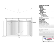 "144"" x 48"" Spear Top Double Drive Gate"