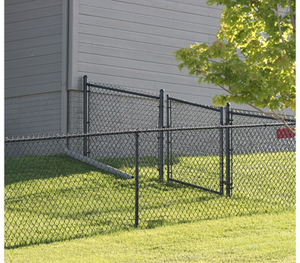 Residential Black Chain Link Single Swing Gate