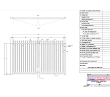"96"" x 48"" Spear Top Double Drive Gate"