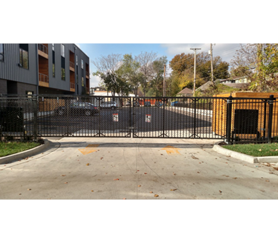 Ornamental Slide Gate 6' tall 45' wide