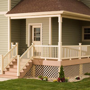 "Vinyl Spindle Railing Kit 36"" x 72"" - Khaki"