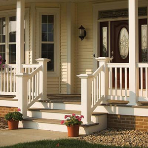 "Vinyl T-Rail Picket Railing Kit 42"" x 96"" - Khaki"