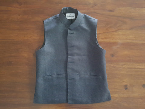 Charcoal Cotton Wasket (Waist Coat)
