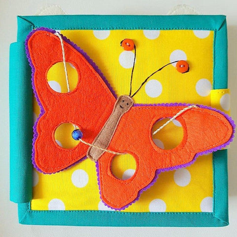 Soar High My Butterfly | Mini Quiet Book | Age: 0-2 Years