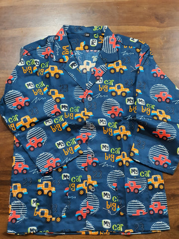 Super Soft Cotton Night Suit | Cars Print
