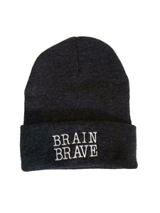 Brain Brave Beanie (Heather Grey)