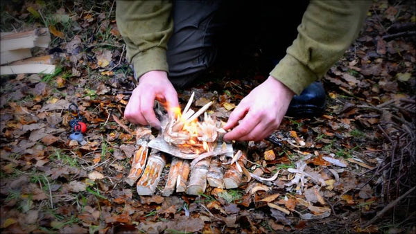 how to start a fire with flint