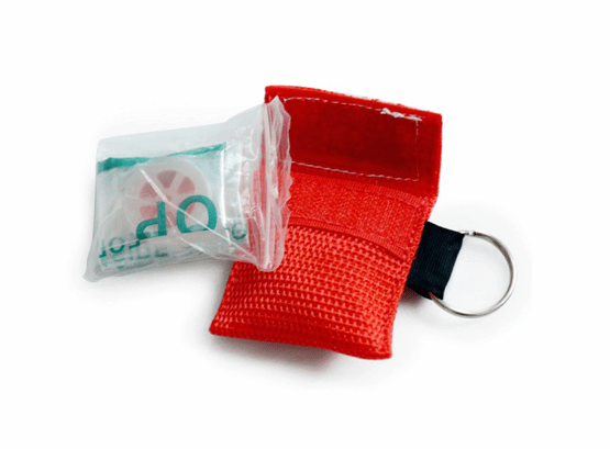 cpr face shield in keychain