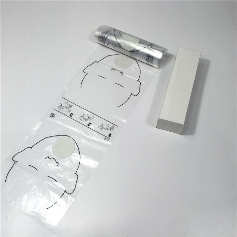 cpr disposable face shields in a roll