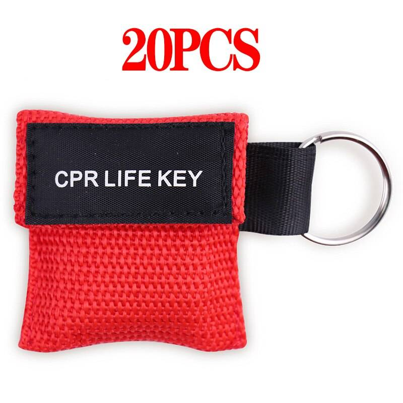 cpr face shield red 20 pcs