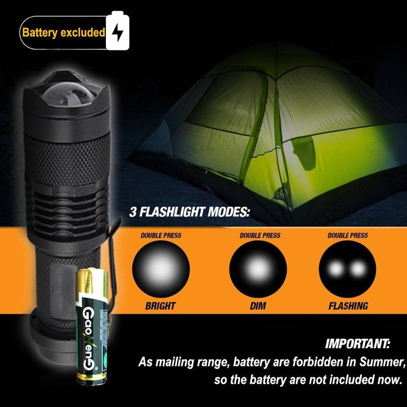 Survival Kit Set for Outdoor and Camping Flashlight