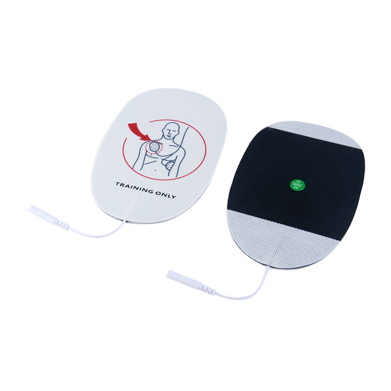 aed training pads xft 120c front and back