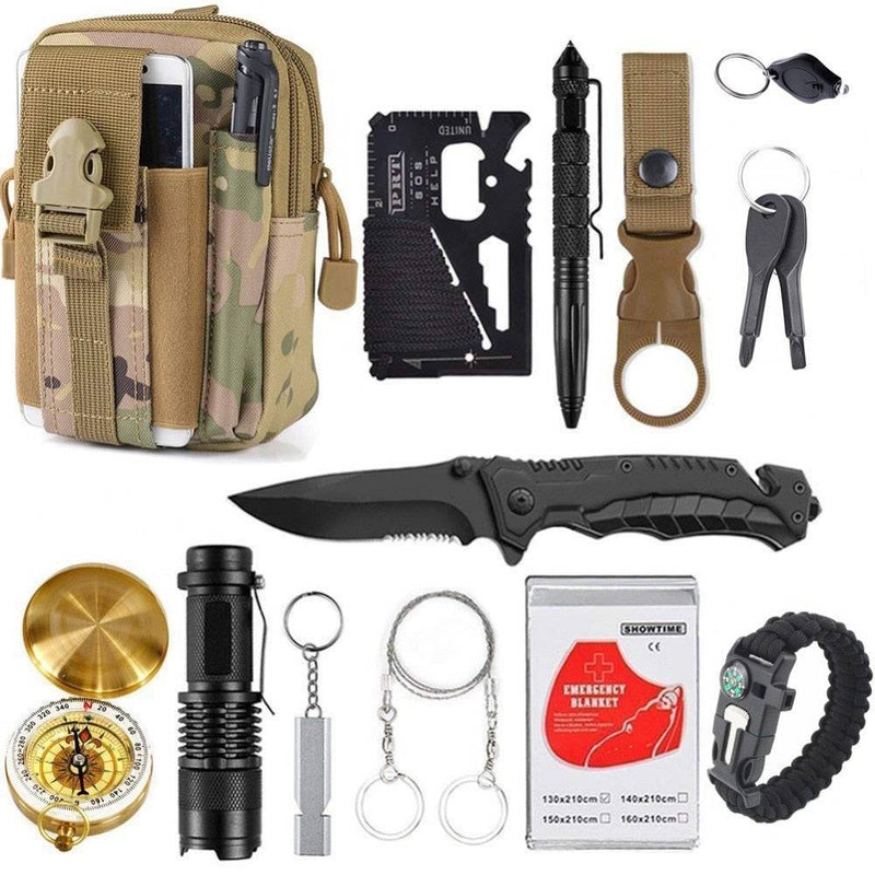 Survival Kit Set for Outdoor and Camping