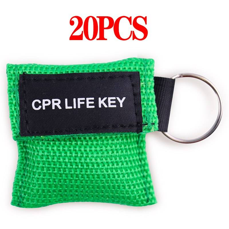 cpr face shield green