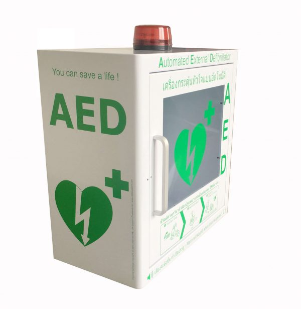 aed cabinet alarm free access