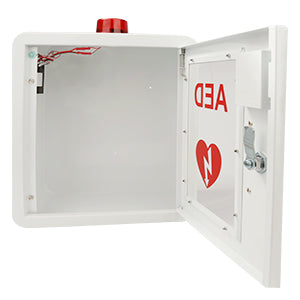 aed cabinet alarm inside