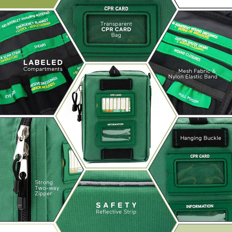 SmartKit®_Work/Home Emergency First Aid Kit | 3 Sections - 165 Pcs