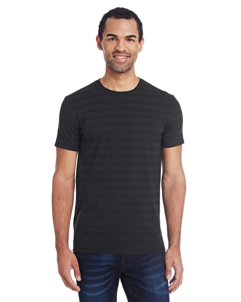 Threadfast-Apparel-152A-Mens Invisible Stripe Short-Sleeve T-Shirt