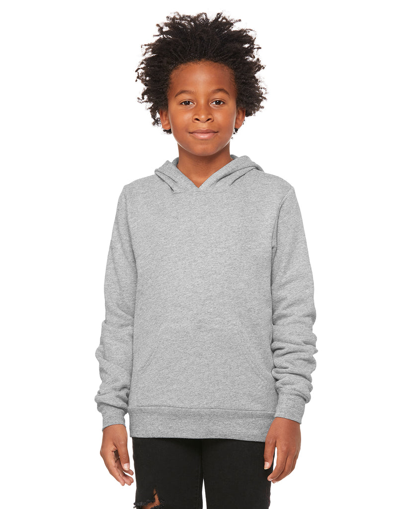Bella + Canvas 3719Y Youth Sponge Fleece Pullover Hooded Sweatshirt