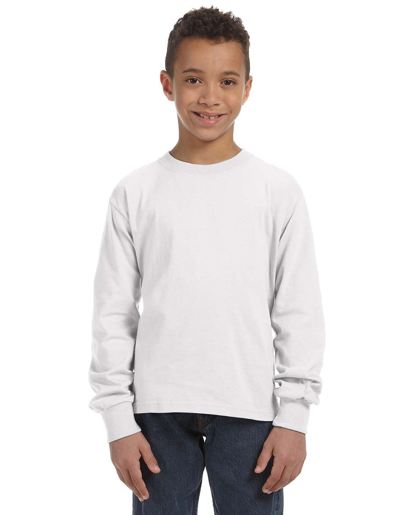 Fruit of the Loom 4930B Youth 5 oz. HD Cotton? Long-Sleeve T-Shirt