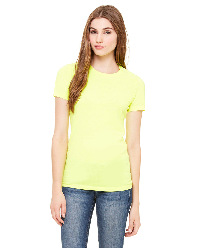 Bella-+-Canvas-6650-Ladies' Poly-Cotton Short-Sleeve T-Shirt
