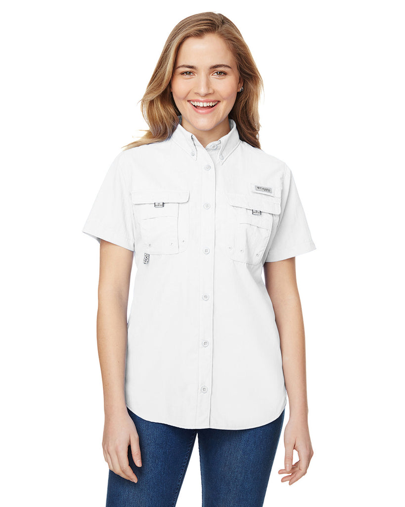 Columbia-7313-Ladies' Bahama™ Short-Sleeve Shirt
