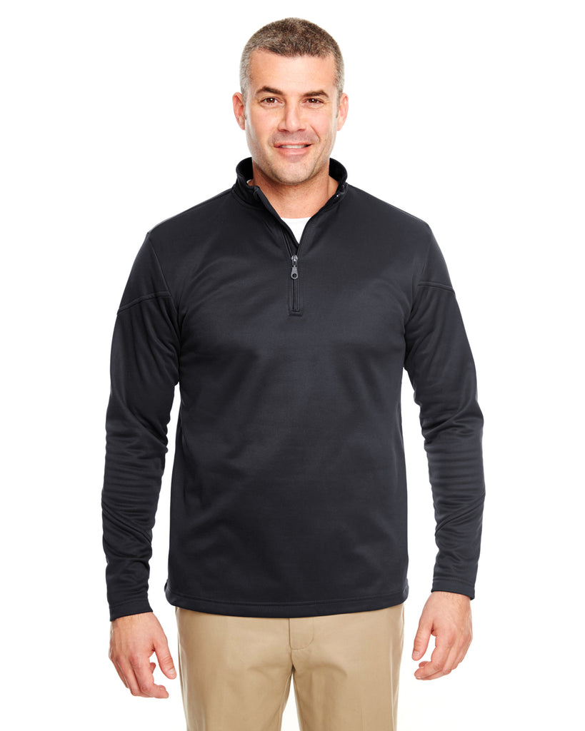 UltraClub 8440 Adult Cool & Dry Sport Quarter-Zip Pullover Fleece