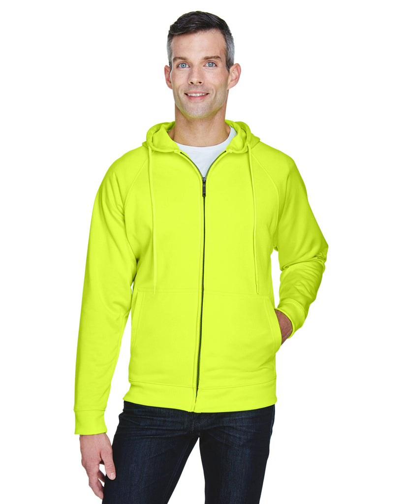 UltraClub 8463 Adult Rugged Wear Thermal-Lined Full-Zip Hooded˜Fleece
