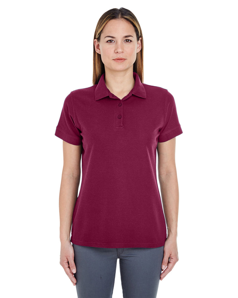 UltraClub-8560L-Ladies Basic Blended Piqué Polo
