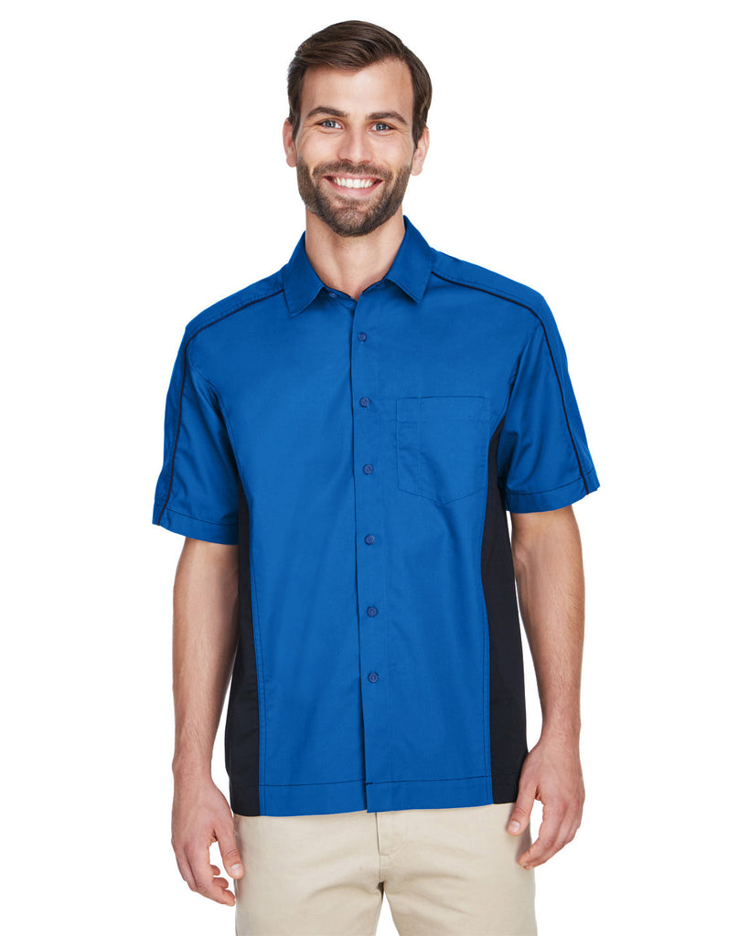 North-End-87042-Men's Fuse Colorblock Twill Shirt