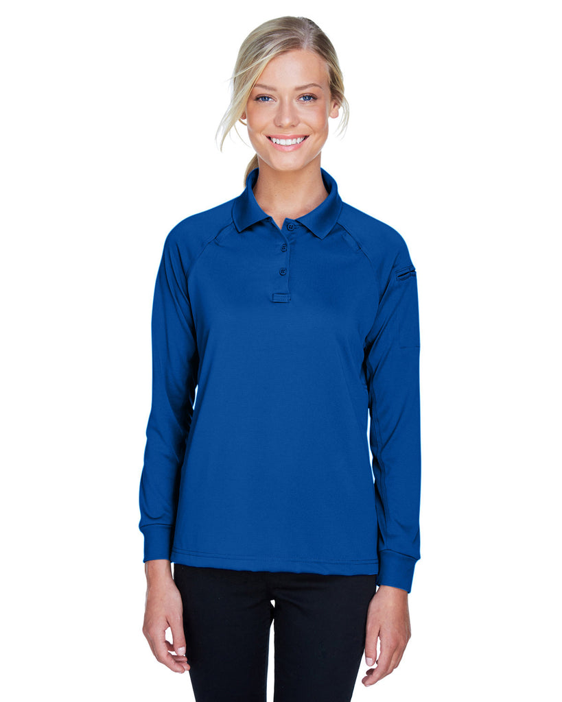 Harriton-M211LW-Ladies Advantage Snag Protection Plus Long-Sleeve Tactical Polo