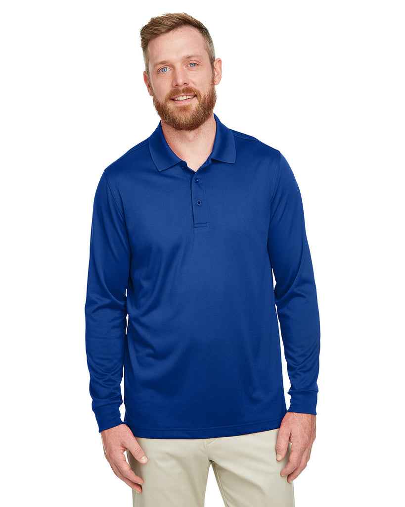 Harriton-M348L-Men's Advantage Snag Protection Plus IL Long Sleeve Polo