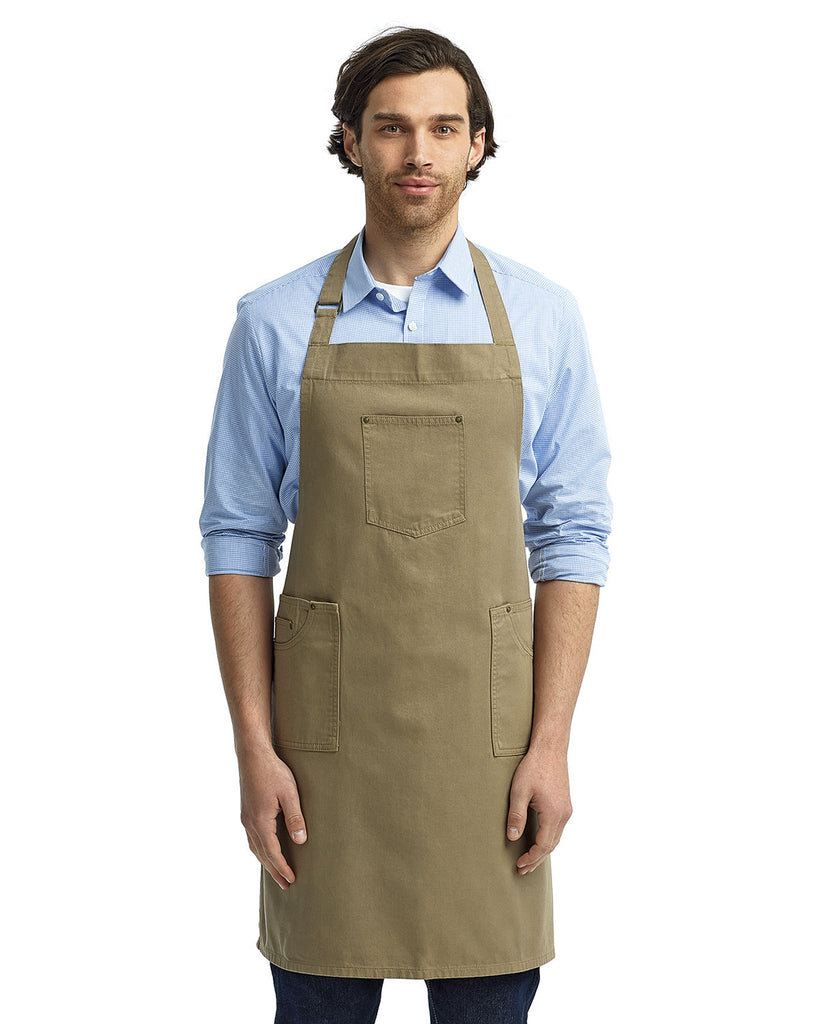 Artisan-Collection-by-Reprime-RP132-Unisex Cotton Chino Bib Apron