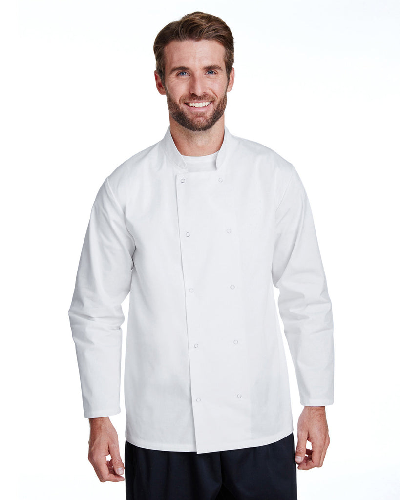 Artisan-Collection-by-Reprime-RP665-Unisex Studded Front Long-Sleeve Chefs Coat