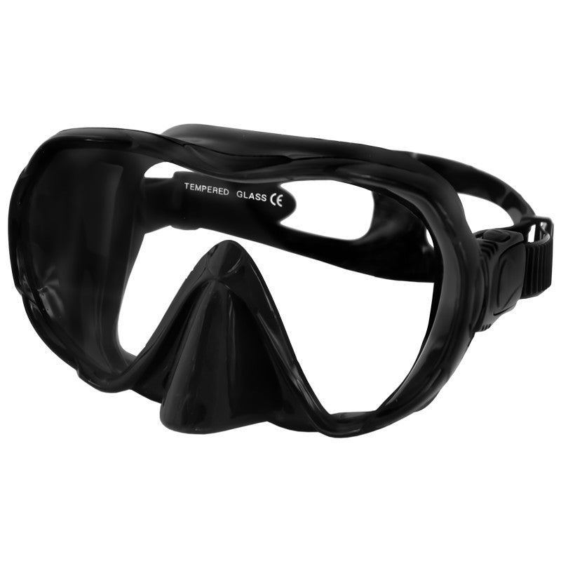 AQUA SPEED Tauchermaske Taucherbrille Ultima schwarz