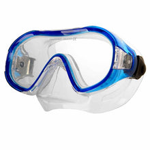 Lade das Bild in den Galerie-Viewer, AQUA SPEED Kinder Tauchermaske Taucherbrille Junior blau / gelb