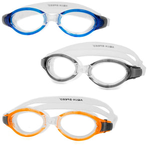 AQUA SPEED Schwimmbrille Triton blau / schwarz / orange Taucherbrille
