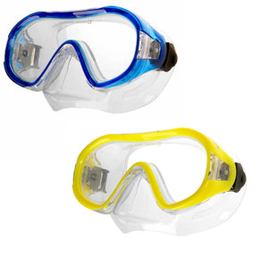AQUA SPEED Kinder Tauchermaske Taucherbrille Junior blau / gelb