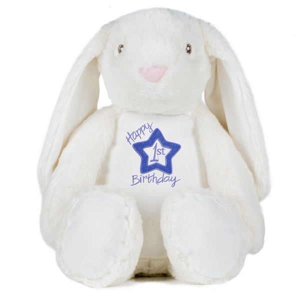 Gorgeous Personalised Bunny - 1st Birthday - Boy
