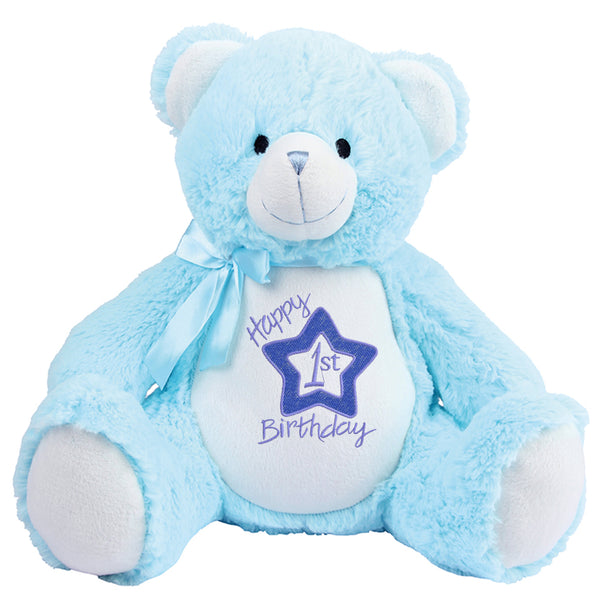 Gorgeous Personalised Teddy - 1st Birthday - Boy